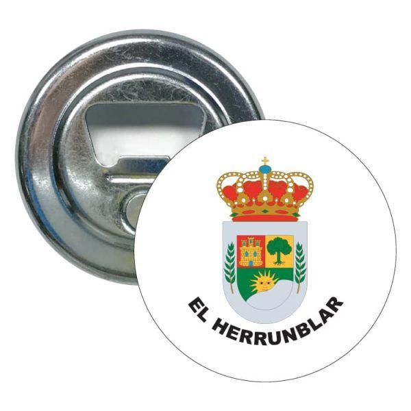 abridor redondo escudo heraldico el herrunblar