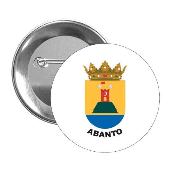 chapa escudo heraldico abanto