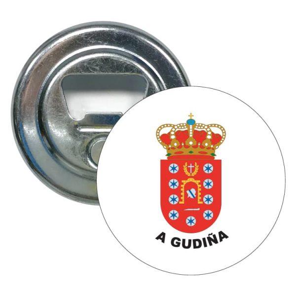 abridor redondo escudo heraldico a gudiña