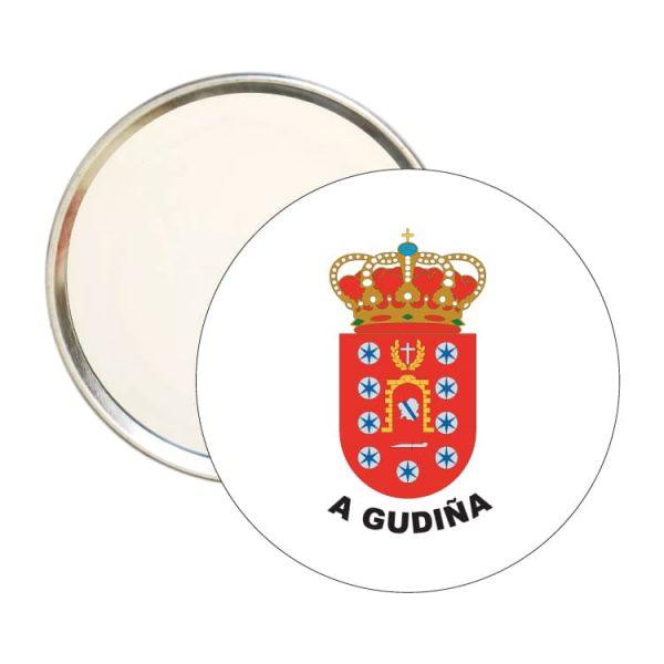 espejo redondo escudo heraldico a gudiña