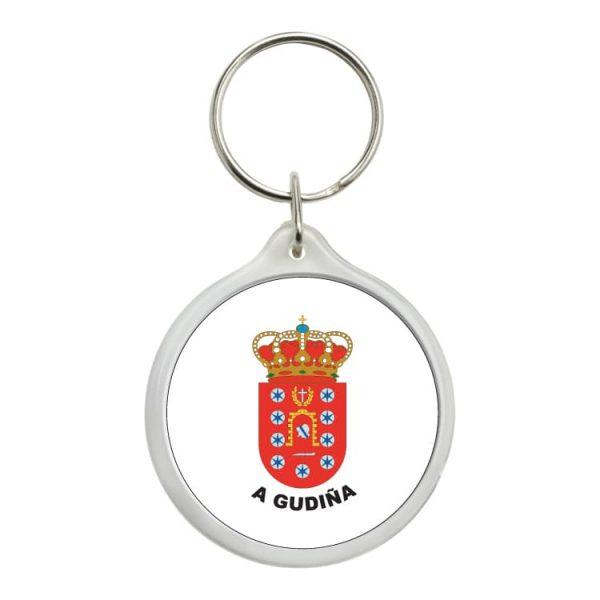 llavero redondo escudo heraldico a gudiña