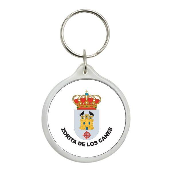 llavero redondo escudo heraldico zorita de los canes