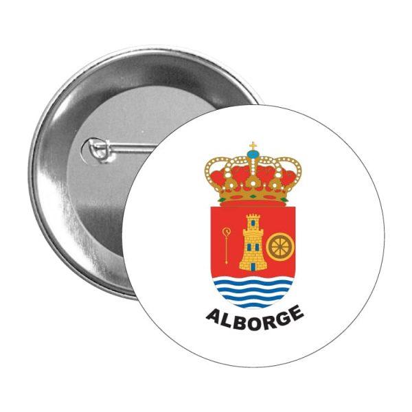chapa escudo heraldico alborge
