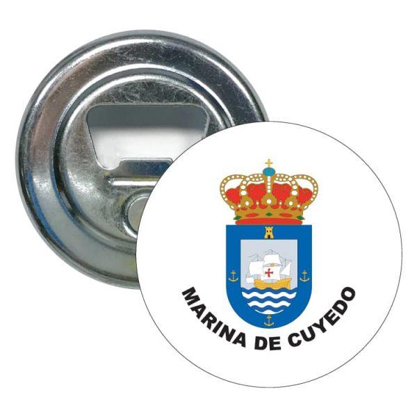 abridor redondo escudo heraldico marina de cuyedo