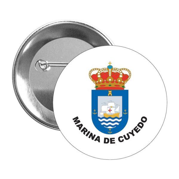 chapa escudo heraldico marina de cuyedo