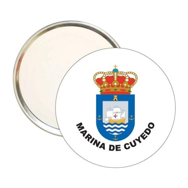 espejo redondo escudo heraldico marina de cuyedo