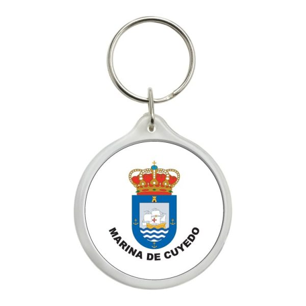 llavero redondo escudo heraldico marina de cuyedo