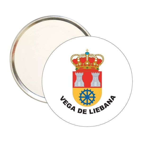 espejo redondo escudo heraldico vega de liebana
