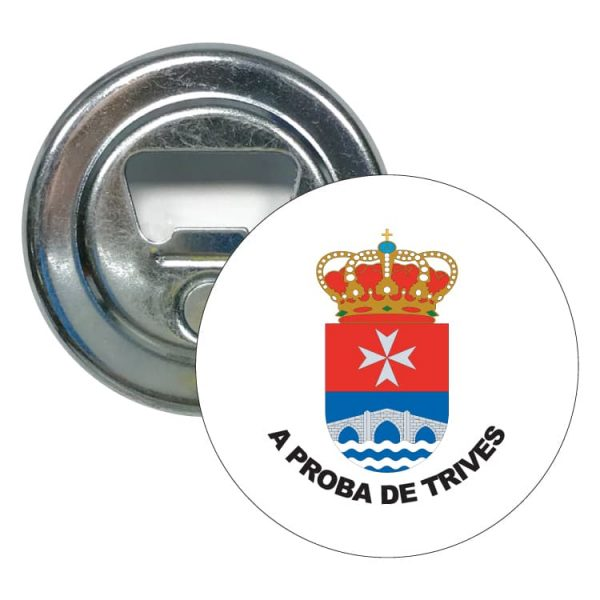 abridor redondo escudo heraldico a prota de trives