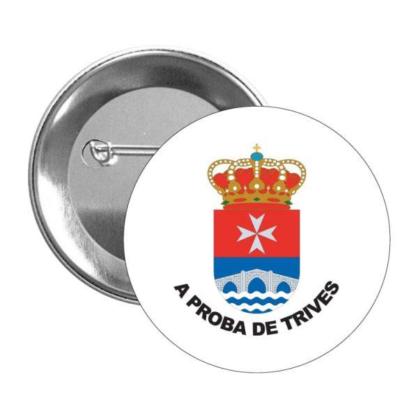 chapa escudo heraldico a prota de trives