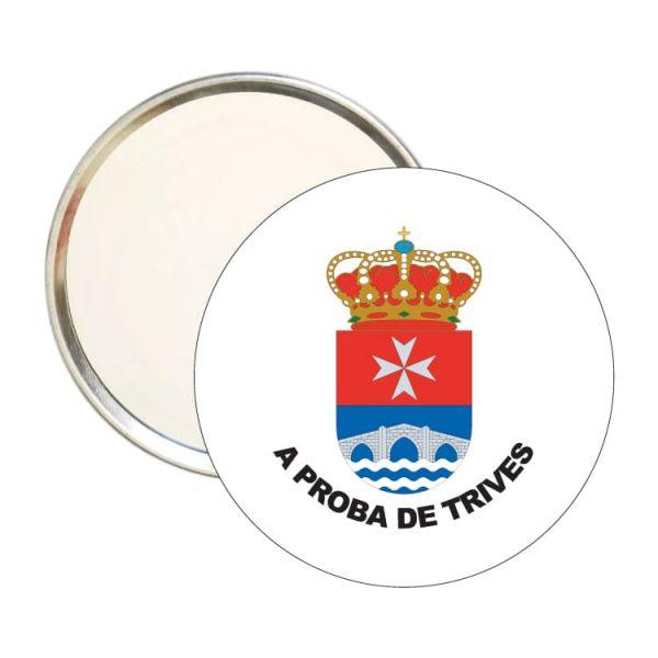 espejo redondo escudo heraldico a prota de trives