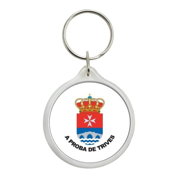 llavero redondo escudo heraldico a prota de trives