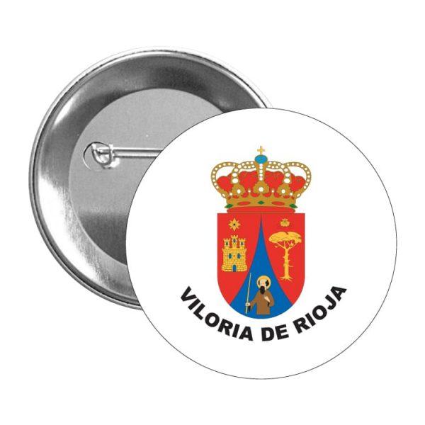 chapa escudo heraldico viloria de rioja