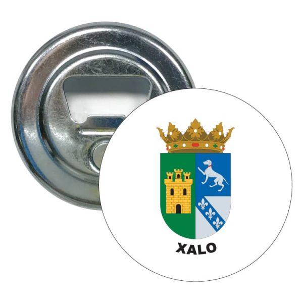 abridor redondo escudo heraldico xalo