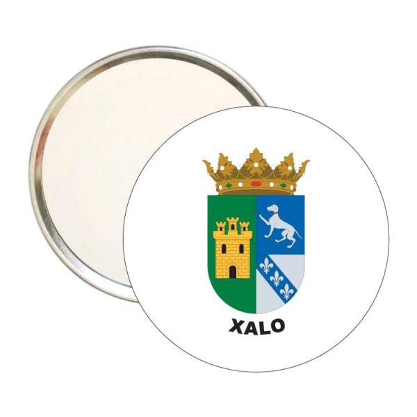 espejo redondo escudo heraldico xalo