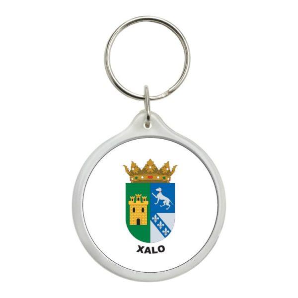 llavero redondo escudo heraldico xalo