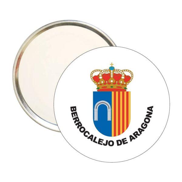 espejo redondo escudo heraldico berrocalejo de aragona