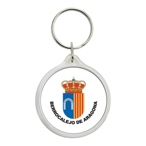 llavero redondo escudo heraldico berrocalejo de aragona