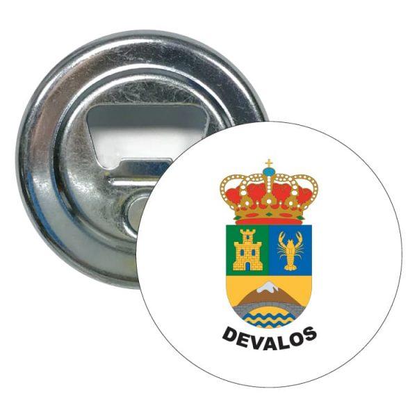 abridor redondo escudo heraldico devalos