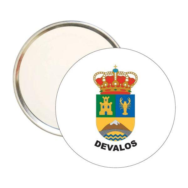 espejo redondo escudo heraldico devalos