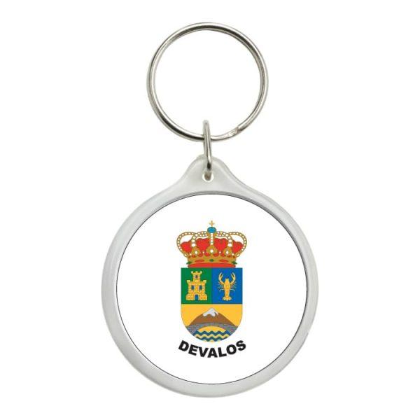 llavero redondo escudo heraldico devalos