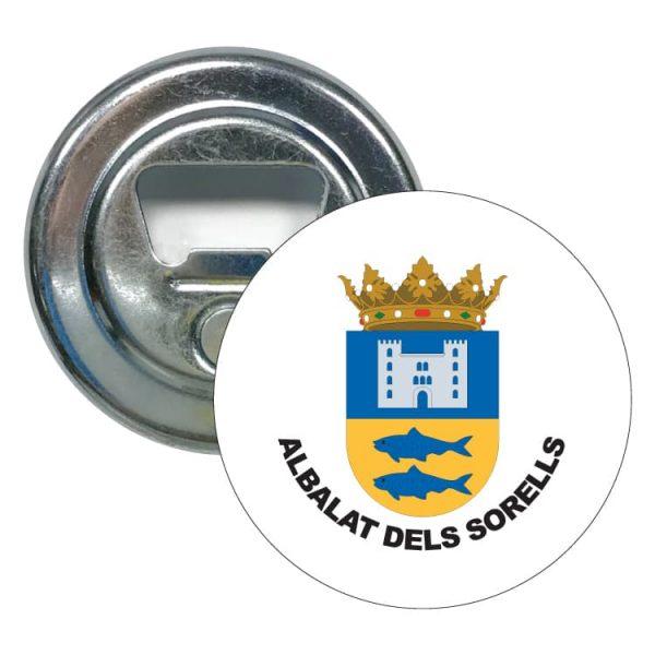 abridor redondo escudo heraldico albalat dels sorells