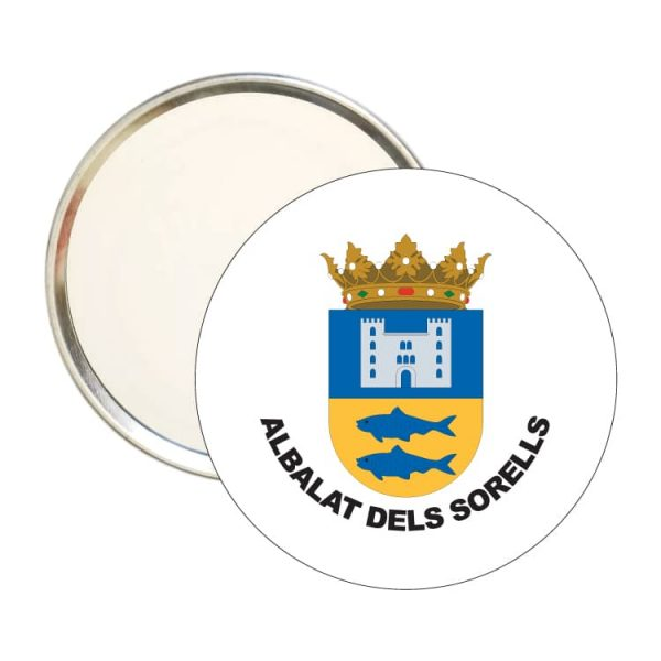 espejo redondo escudo heraldico albalat dels sorells
