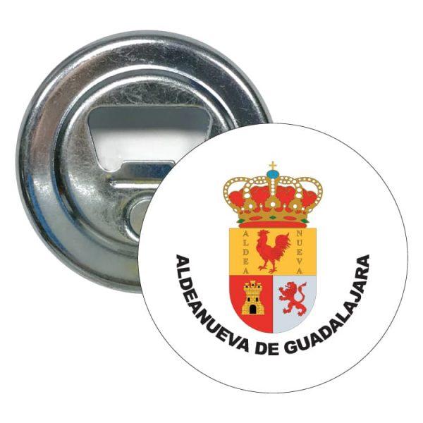 abridor redondo escudo heraldico aldeanueva de guadalajara