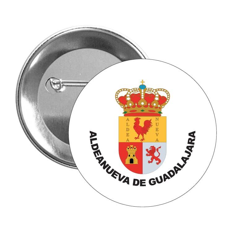 chapa escudo heraldico aldeanueva de guadalajara