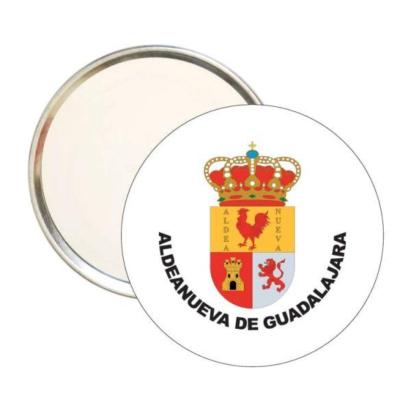 espejo redondo escudo heraldico aldeanueva de guadalajara