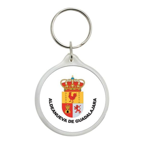 llavero redondo escudo heraldico aldeanueva de guadalajara