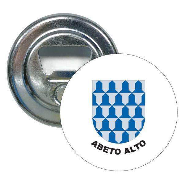 abridor redondo escudo heraldico abeto alto