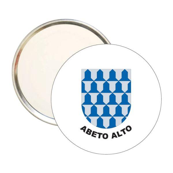 espejo redondo escudo heraldico abeto alto