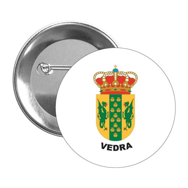chapa escudo heraldico vedra