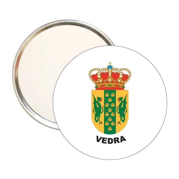 espejo redondo escudo heraldico vedra