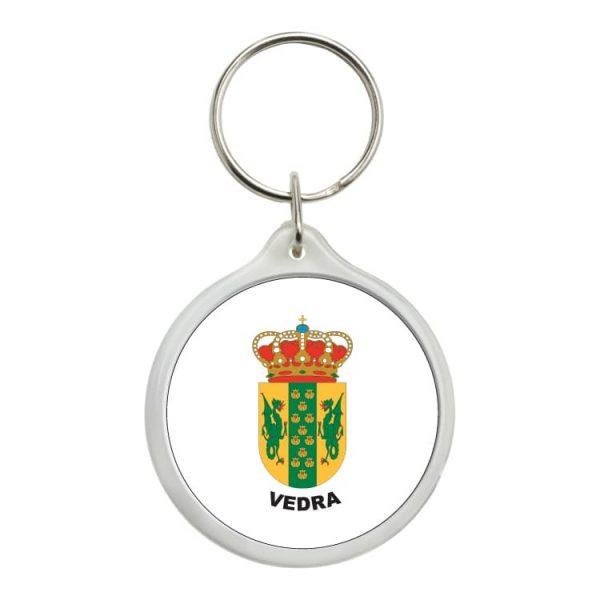 llavero redondo escudo heraldico vedra