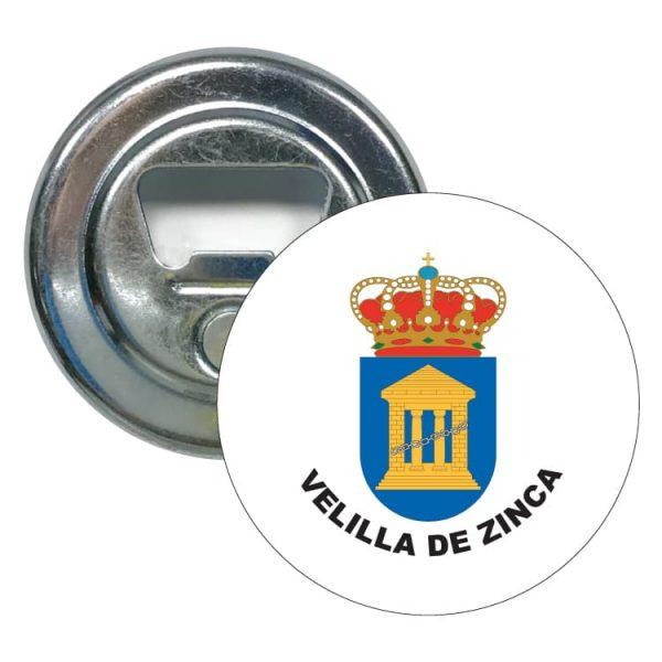 abridor redondo escudo heraldico velilla de zinca
