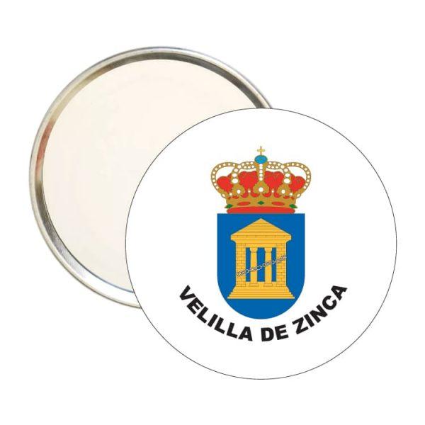 espejo redondo escudo heraldico velilla de zinca