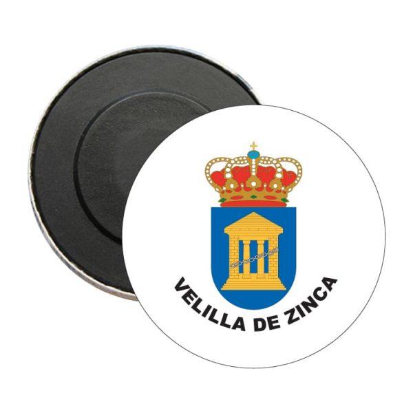 iman redondo escudo heraldico velilla de zinca