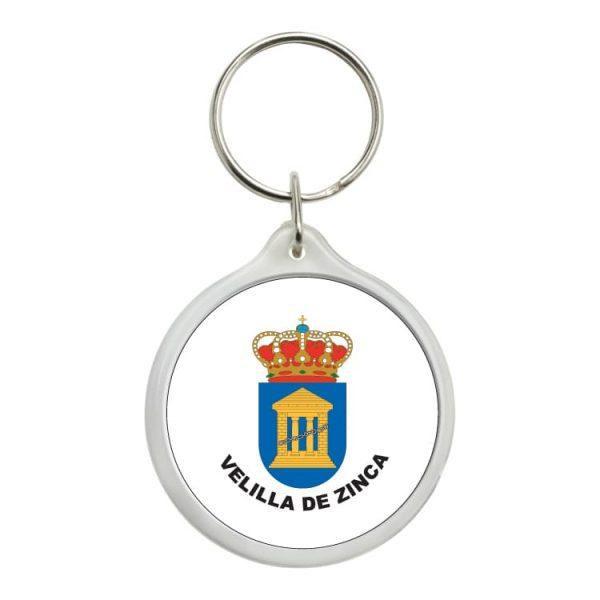 llavero redondo escudo heraldico velilla de zinca