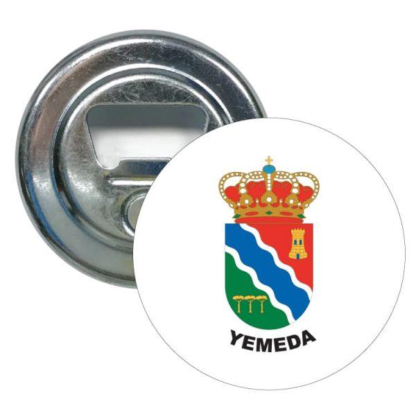 abridor redondo escudo heraldico yemeda
