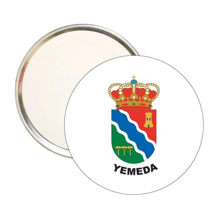 espejo redondo escudo heraldico yemeda