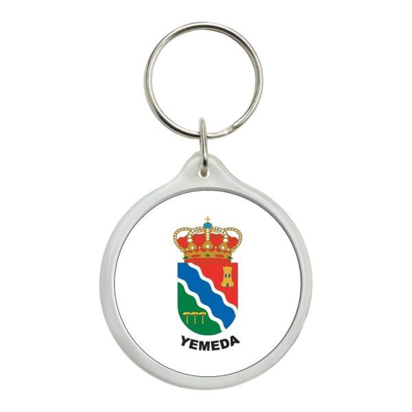 llavero redondo escudo heraldico yemeda