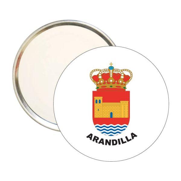 espejo redondo escudo heraldico arandilla