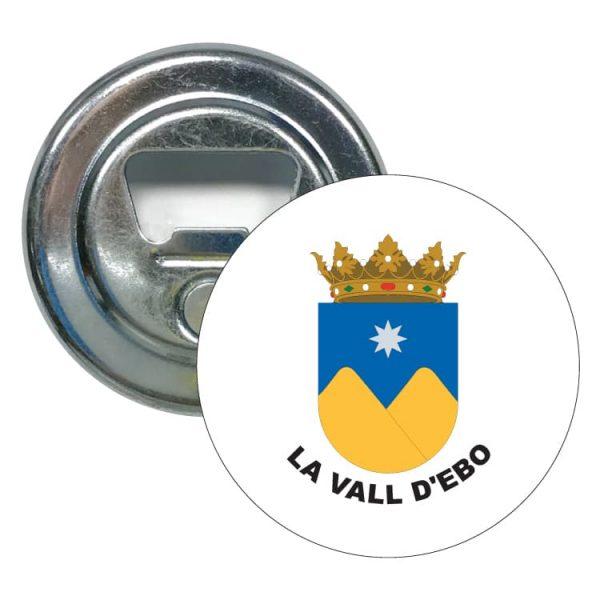 abridor redondo escudo heraldico la vall d ebo