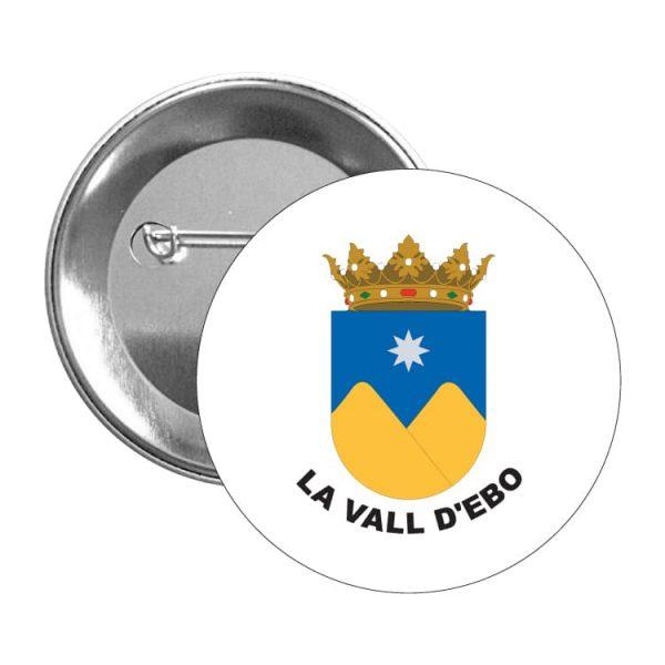 chapa escudo heraldico la vall d ebo