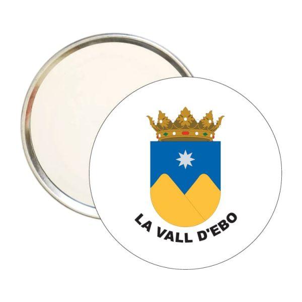 espejo redondo escudo heraldico la vall d ebo
