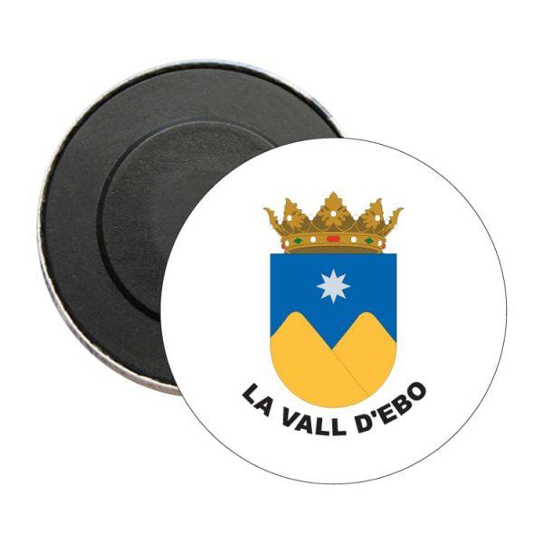 iman redondo escudo heraldico la vall d ebo