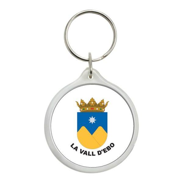 llavero redondo escudo heraldico la vall d ebo