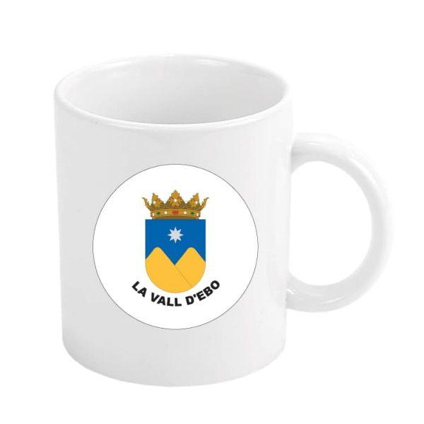 taza escudo heraldico la vall d ebo